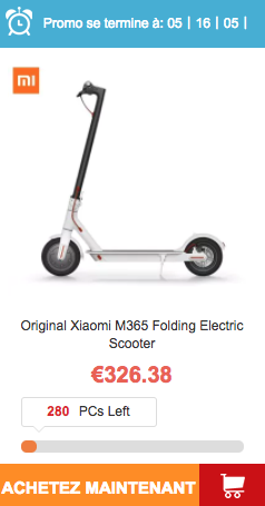 Vente Flash trottinette électrique xiaomi M365