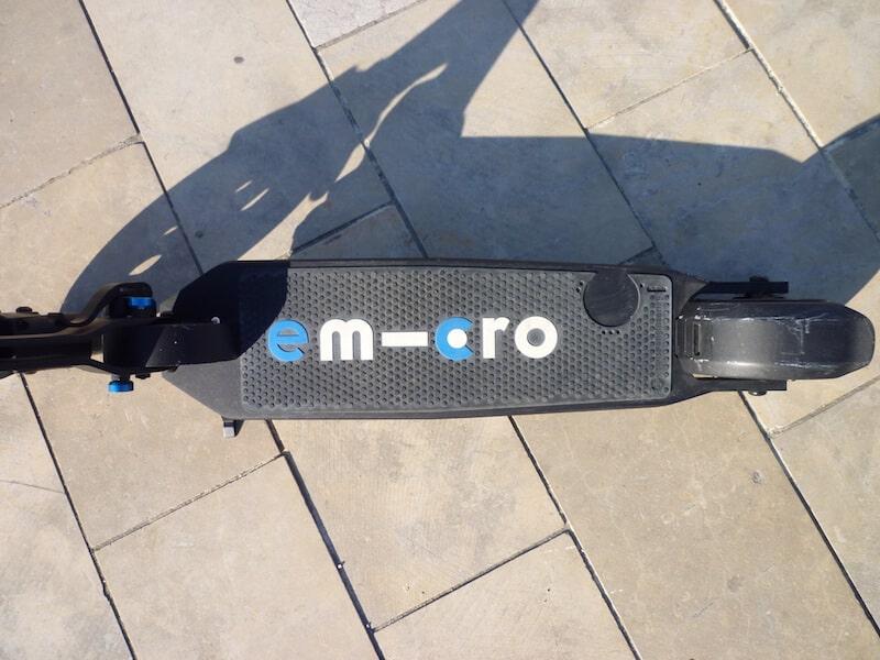 E-Micro One Trottinette électrique vue du haut