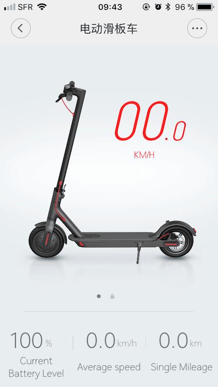 Application Ninebot pour Xiaomi M365