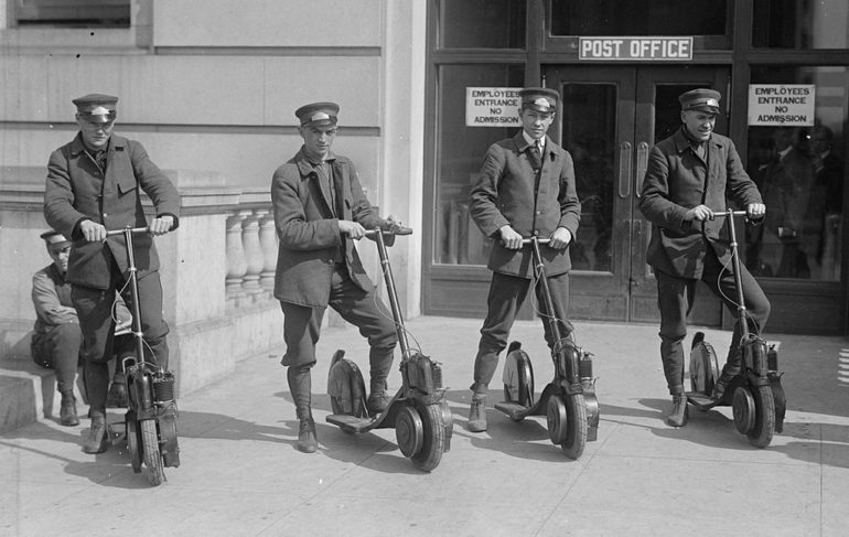 Origines de la trottinette électrique